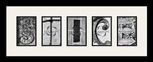 Art to Frames LetterArt-stice-153028-61/89-FRBW26079 字母艺术/字母摄影相框 - STICE - 带 5-4x6 开口。 和缎面黑色框架