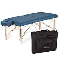 EARTHLITE 便携式按摩桌和谐* – 环保设计,硬枫木,*舒适,豪华可调节面部托架,重型手提箱(76.2 厘米 x 185.42 厘米)