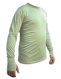 KENYON 男式丝质重量保暖圆领上衣 带拇指袖口