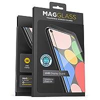 Magglass 谷歌 Pixel 4a 啞光屏幕保護膜(防指紋)無氣泡防眩光鋼化玻璃*屏幕保護膜(兼容外殼)