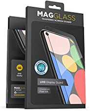 Magglass 谷歌 Pixel 4a 哑光屏幕保护膜(防指纹)无气泡防眩光钢化玻璃*屏幕保护膜(兼容外壳)