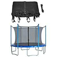 Upper Bounce Trampoline Enclosure Safety Net Fits For 10-Feet Round Frame Using 4 Poles or 2 Arches- (Poles Sold Separately)