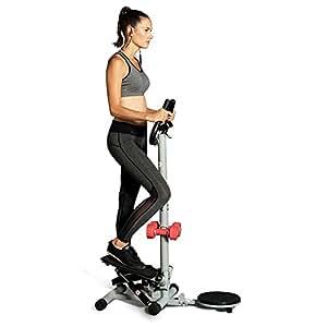 悍德森踏步机家用迷你多功能扶手脚踏机静音运动减肥健身器材带哑铃带扭腰盘