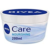 NIVEA 妮维雅 NIVEA Care 乳霜, 适用于面部和身体, 快速吸收, 深层滋润, 4罐装 (4 x 200毫升)