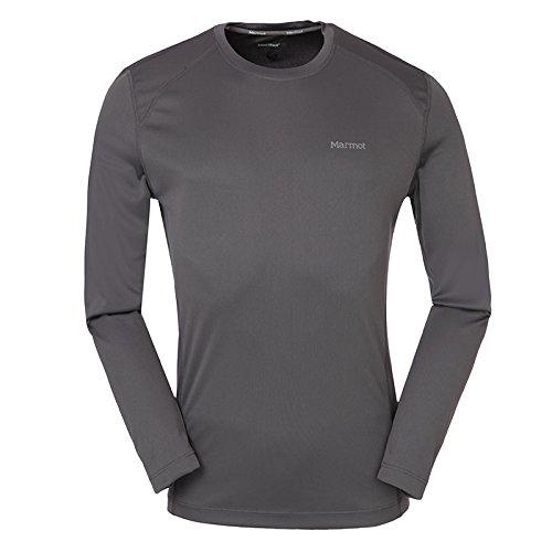 Marmot 土拨鼠 男士 户外运动健身轻量速干透气小LOGO长袖速干T恤 S60410