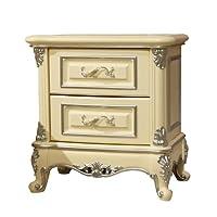 美伊尚品实木白色欧式奢华婚房床头柜OCG-003S(亚马逊自营商品, 由供应商配送)