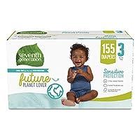 *七代自由清爽敏感肌膚嬰兒尿布 帶動物印花 3 155