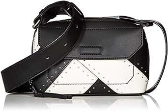 Calvin Klein Karsyn 小牛皮钉皮带斜挎包 黑色铆钉 单一尺寸