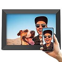 Jeemak 數碼相框 10.1 英寸 WiFi 相框帶 FHD IPS 觸摸屏肖像或橫向支架,可隨時隨地通過應用程序自動旋轉分享照片和視頻