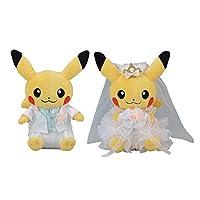 Pokémon Center 精灵宝可梦 原创 毛绒玩具 情侣皮卡丘 Precious Wedding