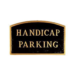 Montague Metal Products Handicap 停车拱形墙板 标准 黑色 SP-15S-BG