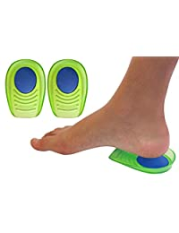 凝胶+*泡沫减震鞋跟杯适合儿童,带敏感鞋跟、脚跟、脚底*或脚踝*(儿童尺码 3-7)2对,4单跟杯 Kids Size 3-7 2.00
