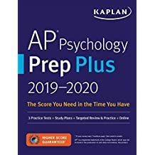 AP Psychology Prep Plus 2019-2020: 3 Practice Tests + Study Plans + Targeted Review & Practice + Online