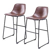 5Rcom Bar Stools 餐椅 2 件套 棕色 Bar Stools/2 set