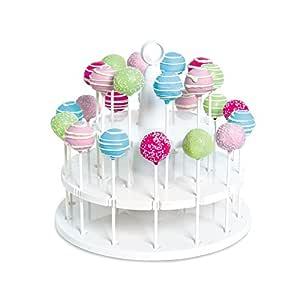 Bakelicious 24-Peice Cake Pop Stand, White