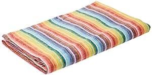 "LinenMe 2 Rainbow Bath Towel, 39 x 55"", Multicolor/Natural"