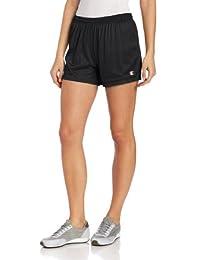 CHAMPION 女式网眼短裤, 网眼短裤, 大, 黑色 Mesh Short