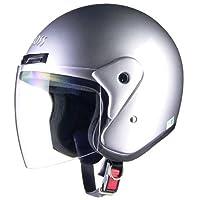 LEAD 摩托車頭盔 露臉式 CROSS CR-720 均碼(57~60cm以內) FREE (頭囲 57cm~60cm未満) 銀色 -