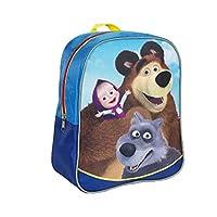 [RusToyShop] 普通的学前背包 Masha and the Bear, 婴儿包, 小背包儿童, 小包女孩可爱背包幼儿园 适合婴儿、灰色、小女孩,粉色