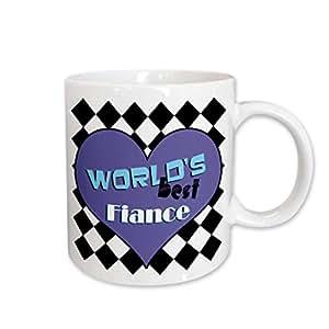 3drose janna salak 设计 WORLD S BEST–worlds BEST fiance–马克杯 白色 11-oz
