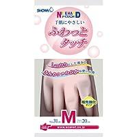 Shawa glove Knistoi 轻柔触感 1双 粉色 Medium 4901792012768