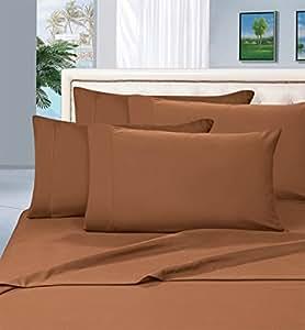 Elegant COMFORT 抗皱–1500支奢华丝滑软6件床单套装,深口袋*多30.48cm–单人床,双人床,中号双人床,大号双人床,加州大号双人床