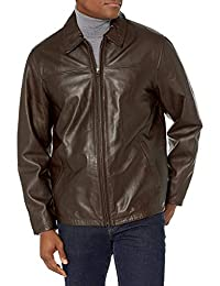 Excelled 男式小羊皮衬衫领夹克