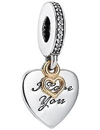 Pandora 潘多拉 丹麦品牌 永远爱你925银+14k金串饰 792042CZ