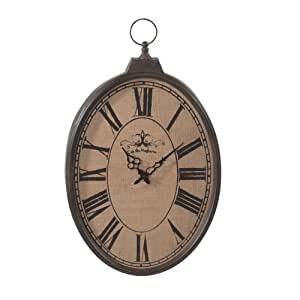 Midwest-CBK Burlap Pocket Watch Wall Clock