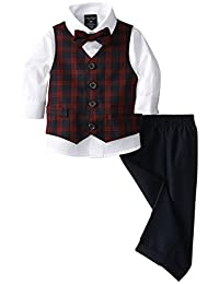 Nautica Baby Boys' Mini Tartan Vest Set, Navy
