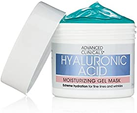 Advanced Clinicals 透明质酸保湿凝胶面膜,舒缓洋甘菊。 *保湿,细纹和皱纹。 5oz