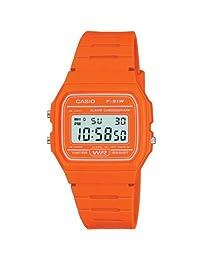 Reloj casio digital naranja 中性 钟表 同 镯子 F-91WC-4A2EF