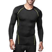 Lapasa Men s Long Sleeve Compression T Shirt Baselayer Mesh Side Panel  Workout Top Shapewear M17 88ab0f024