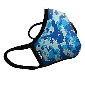 Vogmask N99CV时尚儿童防雾霾口罩/pm2.5防雾霾口罩Arctic(暖暖北极) 1只 蓝色 S号(3-7岁儿童20-50磅/11-22公斤)(进口)