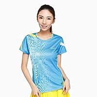 Kawasaki 川崎 女士 运动T恤短袖t恤 吸湿排汗羽毛球服16163 16263