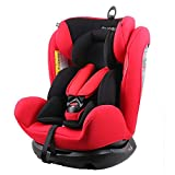 REEBABY 瑞贝乐 汽车儿童安全座椅 0-4-6-12岁婴儿宝宝新生儿可躺 906安全带版红色(供应商直送)
