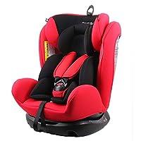 REEBABY 瑞贝乐 汽车儿童安全座椅ISOFIX 0-4-6-12岁婴儿宝宝新生儿可躺 906FIX红色(供应商直送)