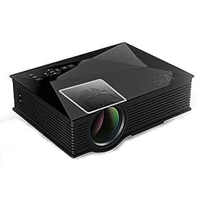 优丽可UC46Plus家用高清微型投影仪 支持1080p无线wifi手机 便携家庭投影影院投影仪 (黑白两色可选)