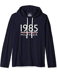 Tommy Hilfiger 男式时尚必备平针织连帽衫 深蓝色 Medium
