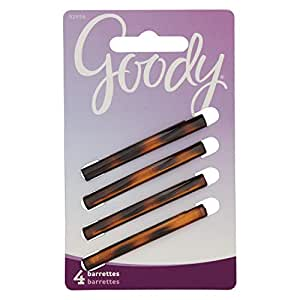 Goody Classics Stay Tight Barrette Mock Tort, 4 Count 均码