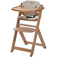 Safety 1st Timba 高脚椅,伴随宝宝成长,由实心山毛榉木制成,适合6个月至约 10 岁的儿童(*重 30kg)不同的款式 happy days