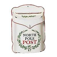 Letters to Santa 北极邮局乡村锡制节日邮箱 白色