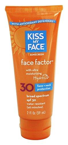 Kiss My Face - 面对面的因素 + 颈部防水霜 30 SPF - 2盎司 美国直邮美国直邮【亚马逊海外卖家】