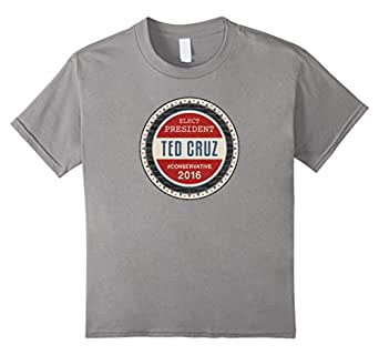 Teekiwi Ted Cruz Shirt Elect President Ted Cruz Men's Tee 蓝灰色 Kids 10