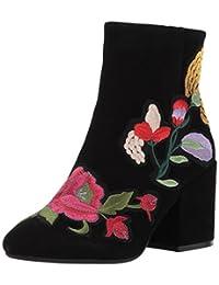 Kenneth Cole New York 女士 Reeve 4 粗跟短靴刺绣及踝