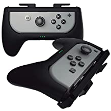 Sliq Gaming Nintendo Switch Joy Con 充電手柄(黑色)- 控制器手柄 + 內置電池組 - 在玩耍時延長長達 5 小時的電池壽命