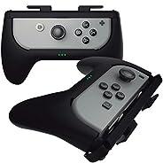 Sliq Gaming Nintendo Switch Joy Con 充电手柄(黑色)- 控制器手柄 + 内置电池组 - 在玩耍时延长长达 5 小时的电池寿命