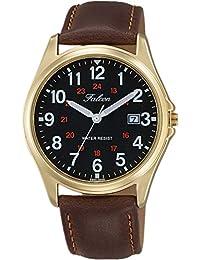 CITIZEN Q&Q(シチズン Q&Q) 男士 腕時計 日付表示、革ベルト、ベーシックD026-105 指针 革バンド ベルトタイプ??- 棕色 D026-105