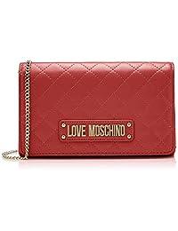Love Moschino 女士绗缝纳帕 PU 手拿包