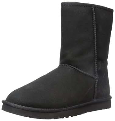 UGG Australia 女 雪地靴 W CLASSIC SHORT 57047 黑色 37 (US 6)(亚马逊进口直采,美国品牌)